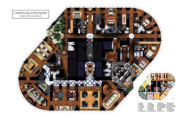 Trump Tower Entry Floorplan
