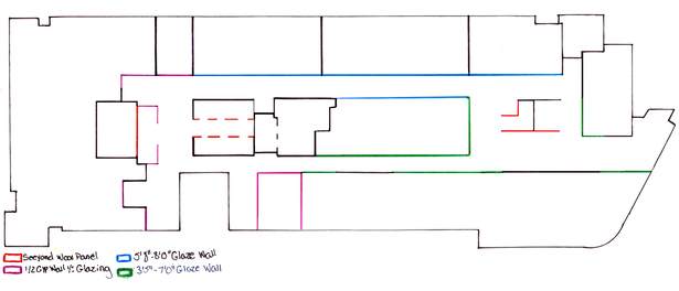 Second Floor Wall Type Diagram
