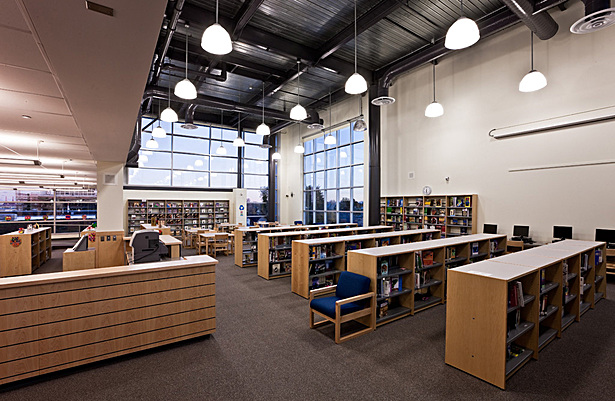 Irene C. Hernández School Interior-Library Layout and Casework is my design.