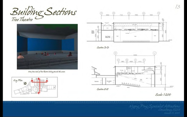 Schematic Design - Building Section. Tree Theater