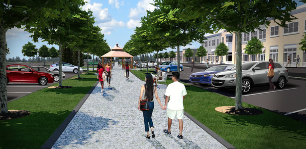 3d rendering of Main Street Allee (Sketchup+SU Podium+Photoshop)