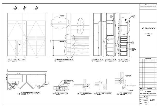 Master Bedroom millwork details