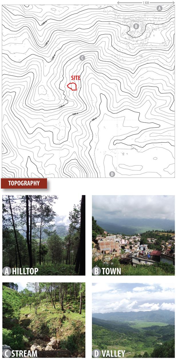 topography study (Google Maps, Rhino 3D, Adobe Illustrator)