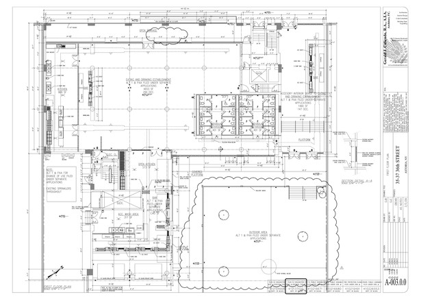 First Floor and Open Space Floorplan