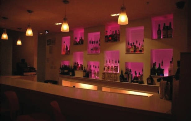 Bar and bottle display