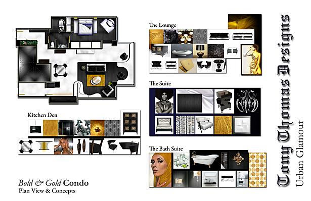 THE BOLD & GOLD CONDO - STYLE GUIDE