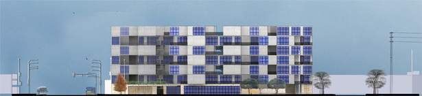 Rendered Elevation along Santa Monica Boulevard