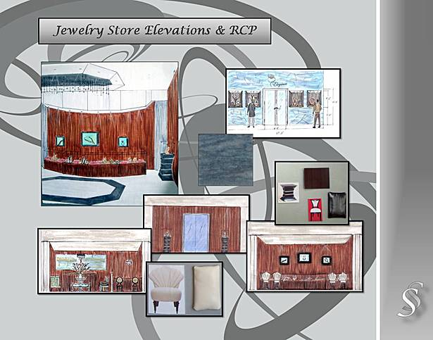 Jewelery Store Elevantions and Renderings