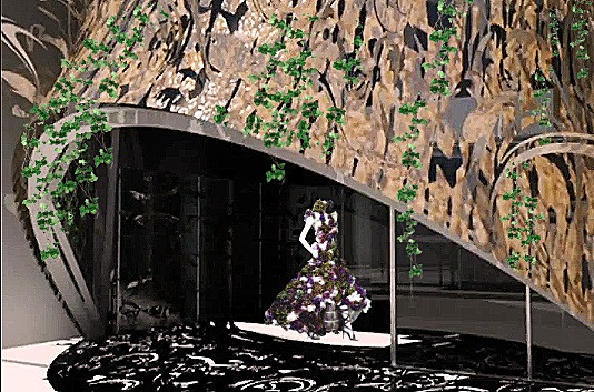Sgambati_Alexander McQueen studio h.q._seasonal study spring_facade rendering/montage