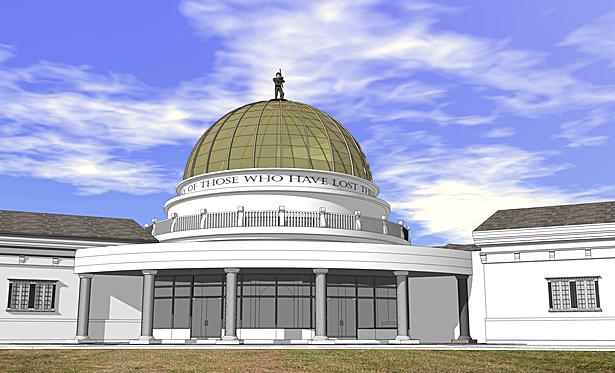 Exterior Detail, Rotunda, LCVSB