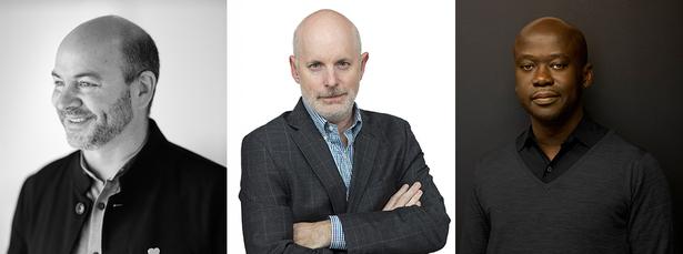 L to R : Craig Dykers (SNØHETTA), William Sharples (SHoP), David Adjaye (Adjaye Associates)