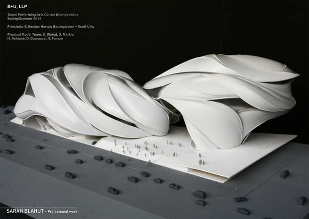 Taipei Performing Arts Center Model - Professional Work