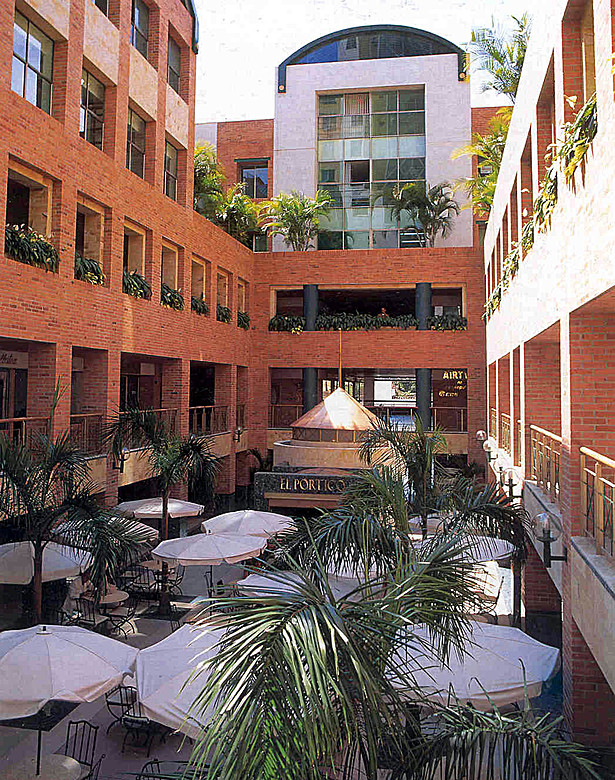 Open courtyard with cafe