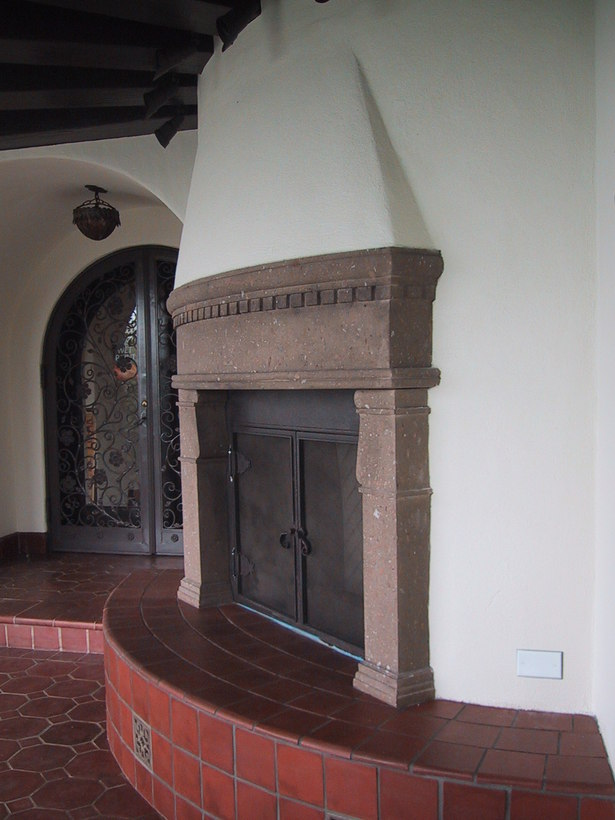 Loggia - new fireplace side view