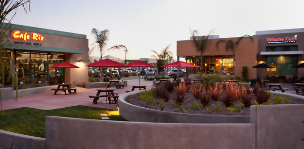 Rose Ranch Retail Center with restaurants and outdoor patios