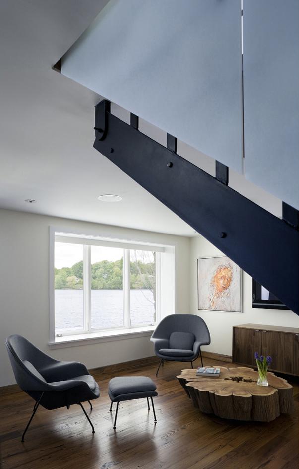 CONNECTICUT LAKE HOUSE – Media room