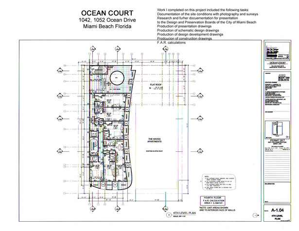 Ocean Court-fourth floor plan