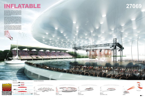 INFLATABLE : 2nd place: Eric Tan + Leon Lai Team: Pink Cloud.DK.Design Group Copenhagen, Denmark
