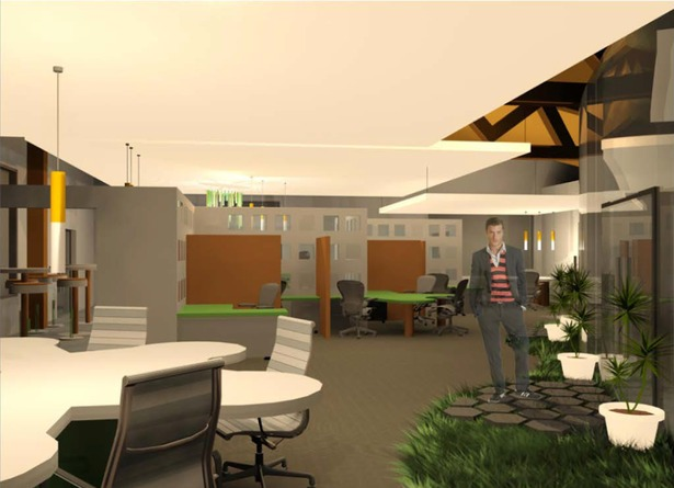 Open Office Space I 3dsmax Render