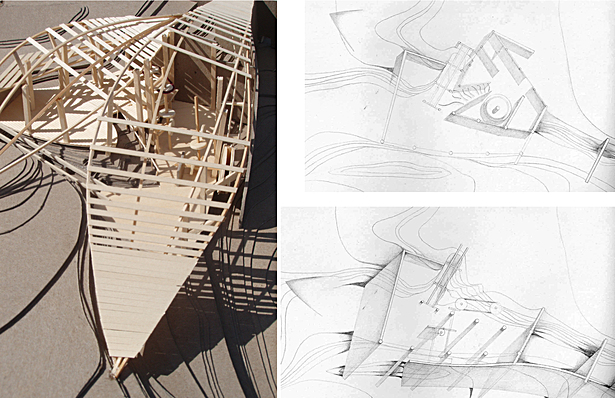 Mackinaw Mill Creek Renovation | Hand Crafted Modeling and Drawing, Shadow and Water Engineering Research