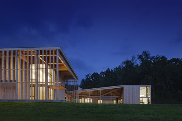 Meditation Hall and Administration at night - photo: Michael Moran/ ottoarchive.com