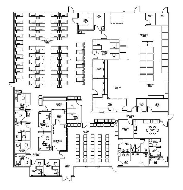 Facility plan of Everett Donor Center