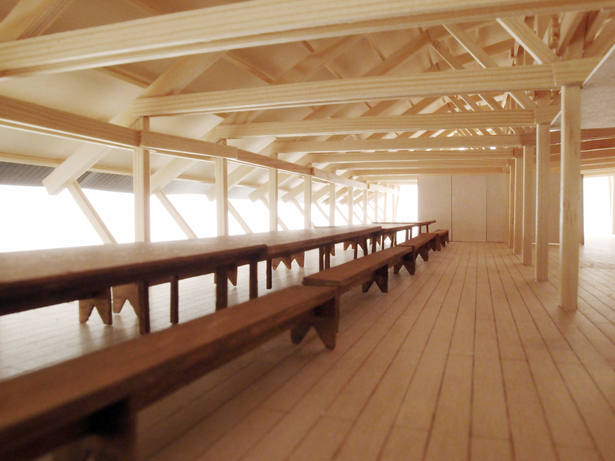Interior Perspective (photographed model)