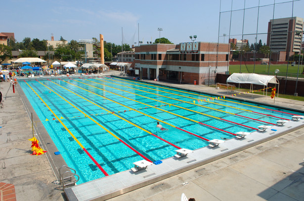 1984 olympic games pool complex usc campus rowley for Pool design engineering