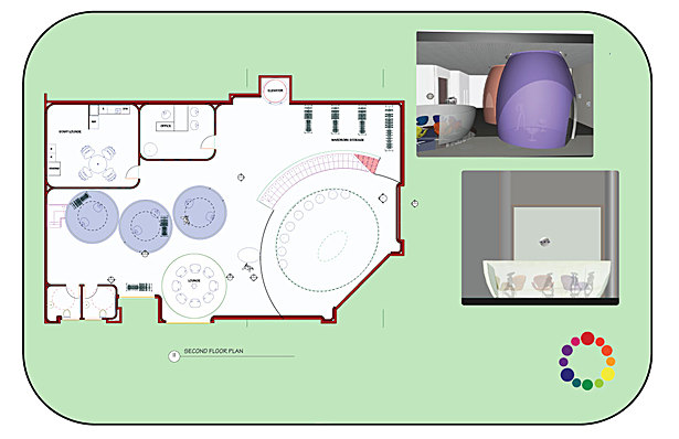 second floor plan and renderings