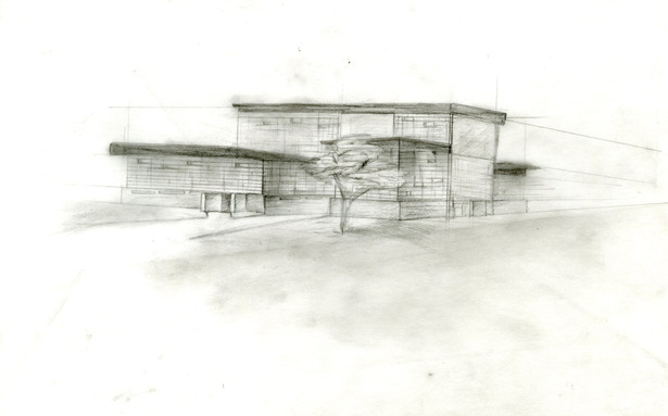 One of the initial sketches of the design.