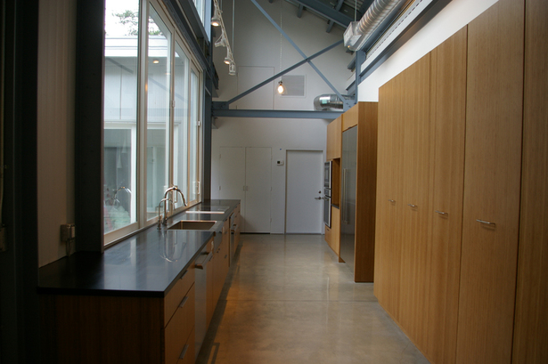 the kitchen opens onto the courtyard