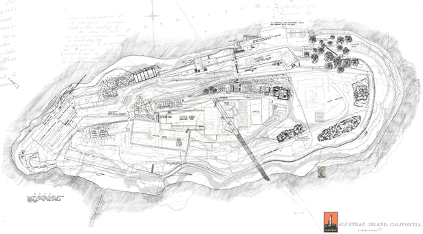 Site Plan of Alcatraz Island