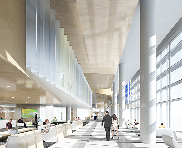 OSU - Outsourced 3D Rendering. (Interior perspective view of concourse)