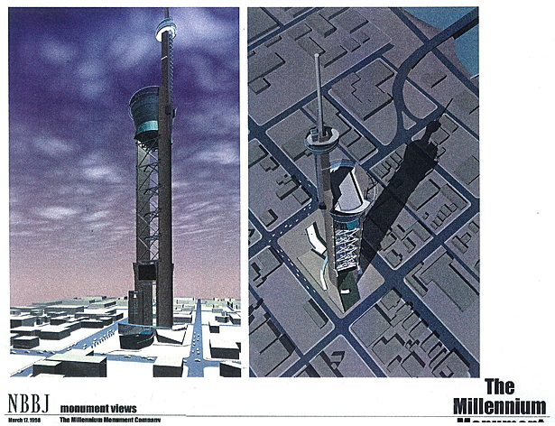 Aerial viewsof proposed tower