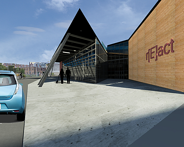 Main Entry to building from Germantown Ave.