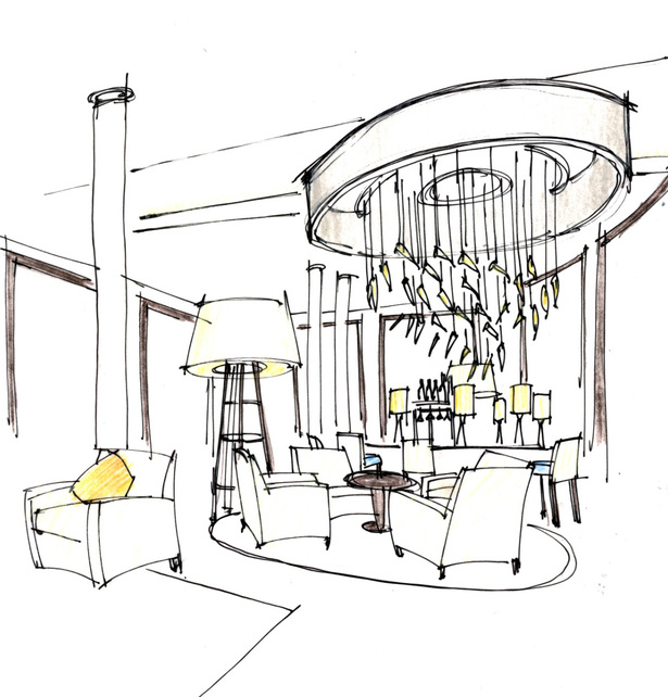Bar Light Fixture Sketch