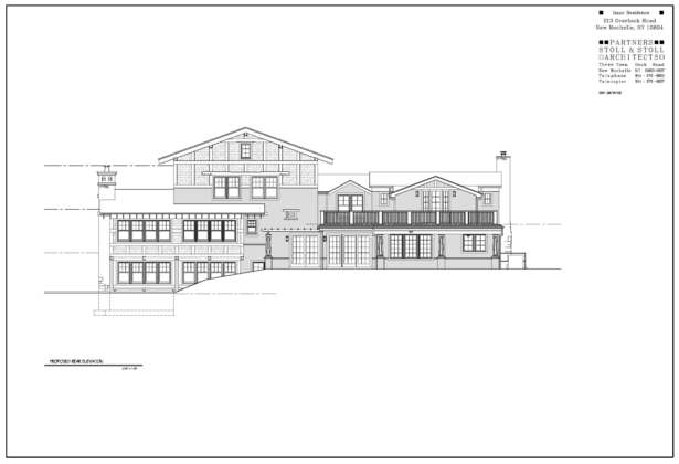 Isaac Residence Rear Elevation