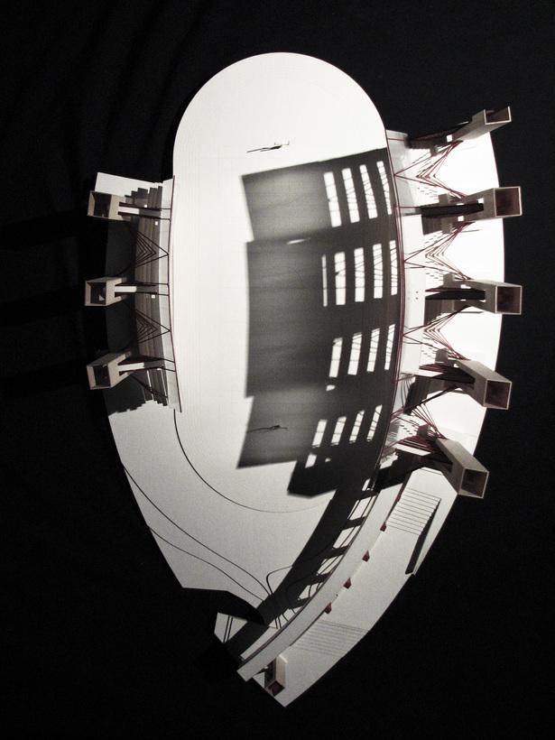 Inverted Stadium. Study Model. Second Iteration.