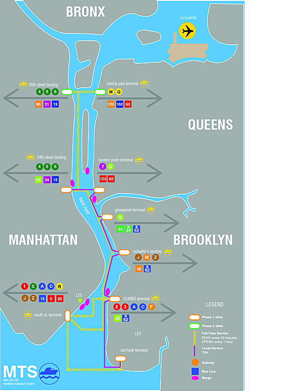 East River Ferry Map