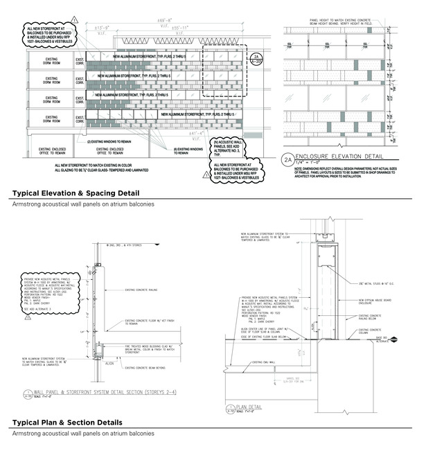 Typical Acoustical Panel Drawings