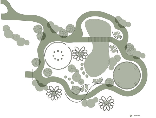 Reflect Park Plan: AutoCAD, Adobe Photoshop