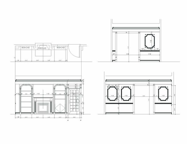 Library Room Elevations