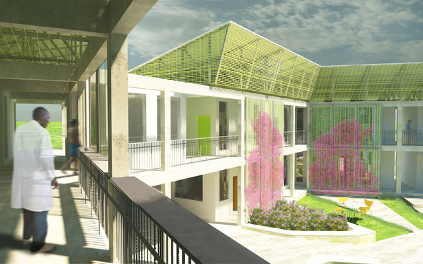 Courtyard Rendering from the Second Floor