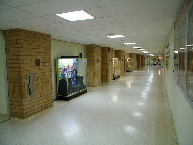 INTERIOR VIEW OF CORRIDOR