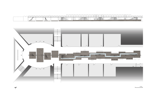 Library A : Plan & Elevation