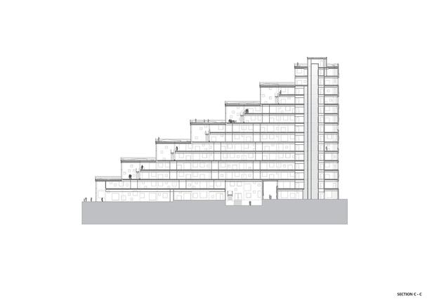 Section C-C. Copyright © Dark Arkitekter