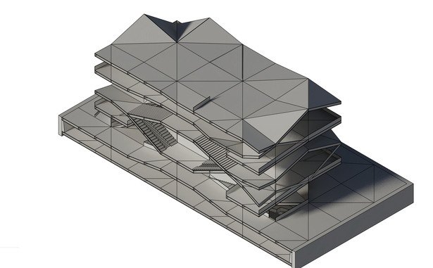Axonometric 3D section