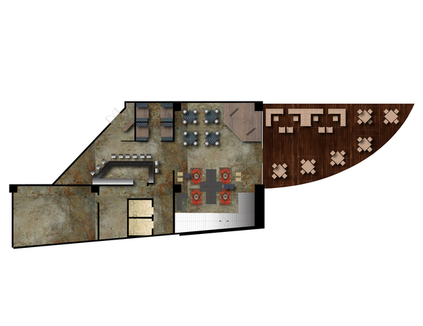 Red Sky Lounge First Floor Plan