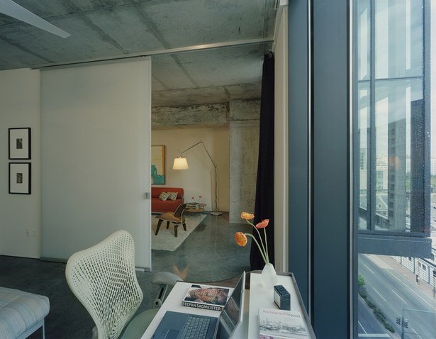 Interior view of an individual residential apartment.