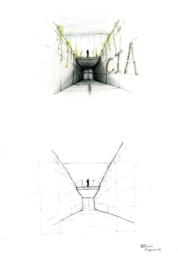 Educational entrance design sketch